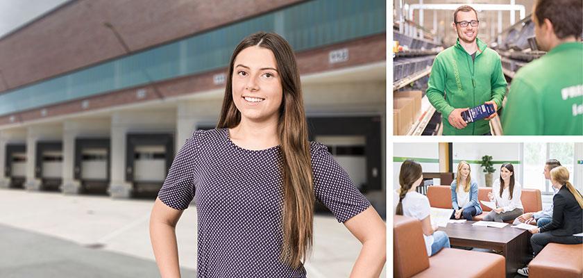 Melanie, Auszubildende Speditions- und Logistikdiensleistungen, Logistik Feuchtwangen
